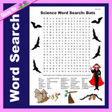 Science Word Search: Bats