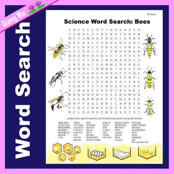 Science Word Search: Bees