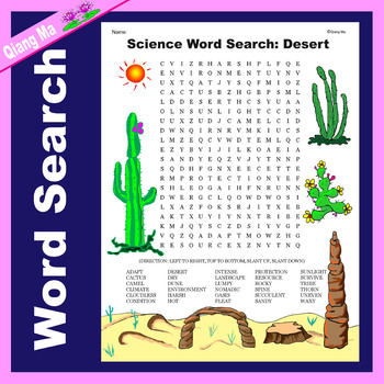 Science Word Search: Desert