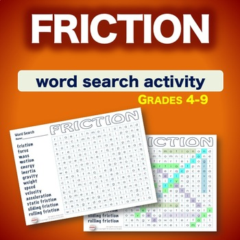 Science Word Search * FRICTION * Bell Ringer * Warm Up