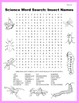 Science Word Search: Insect Names
