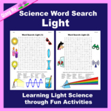 Science Word Search: Light