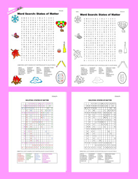 Science Word Search: Matter & Energy
