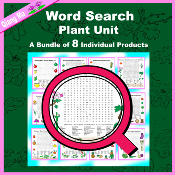 Science Word Search: Plant Unit
