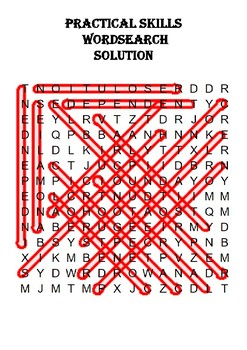 Science Word Search: Practical Skills (Includes Solution)