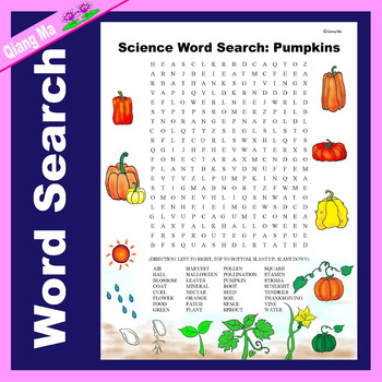 Science Word Search: Pumpkins