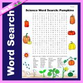Science Word Search: Pumpkins