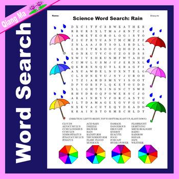 Science Word Search: Rain