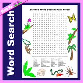 Science Word Search: Rain Forest