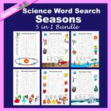 Science Word Search: Seasons 5 in 1 Bundle