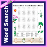 Science Word Search: Seeds & Plants
