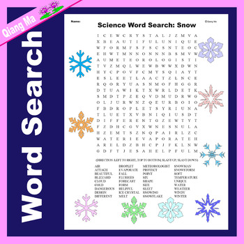 Science Word Search: Snow