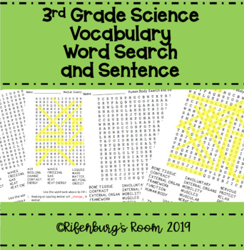 Science Word Search - Third Grade Science Word Search - Science Wordsearch