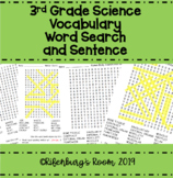 Science Word Search - Third Grade Science Word Search - Sc