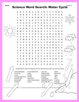 Science Word Search: Water Cycle