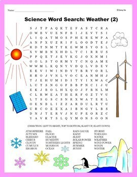 Science Word Search: Weather