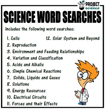 Science Word Searches Book 1