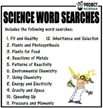 Science Word Searches Book 3
