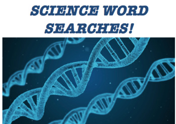 Science Word Searches for Middle School