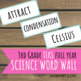 Science Word Wall 3rd Grade FULL YEAR- TEKS STAAR Edition for Texas Standards
