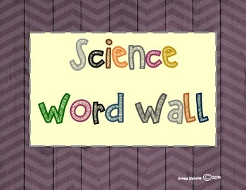 Science Word Wall (4th Grade)-Ohio's Learning Standards