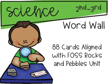 Science Word Wall Aligned with FOSS Rocks and Pebbles Unit