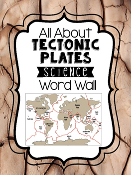 Science Word Wall - All About Plate Tectonics