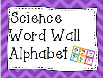 Science Word Wall Alphabet Cards