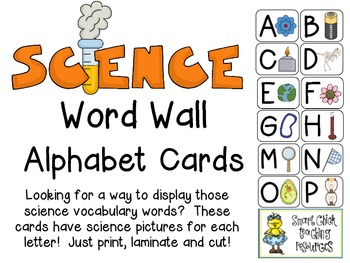 Science Word Wall Alphabet Cards ~ Great Way to Organize V