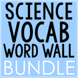 Science Word Wall BUNDLE, Includes 7 Individual Sets, Editable