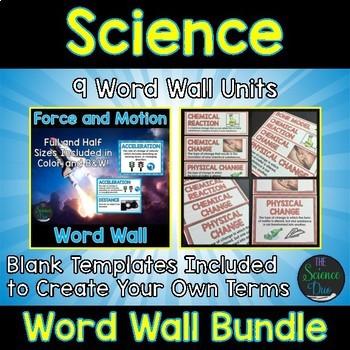 Science Word Wall Bundle