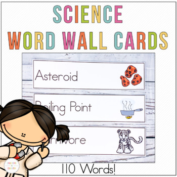 Science Word Wall Cards, Flash Cards, or Vocabulary Cards