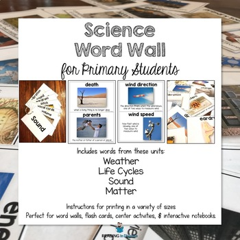 Science Word Wall Cards