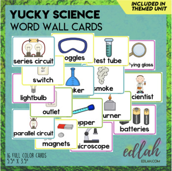 Science Word Wall Cards (set of 8)
