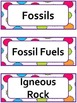 Science Word Wall Cards:Earth Science