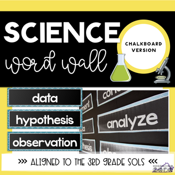 Science Word Wall Chalkboard Theme SOL Aligned