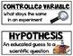 Science Word Wall: Editable