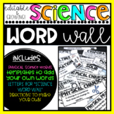 Science Word Wall: Editable