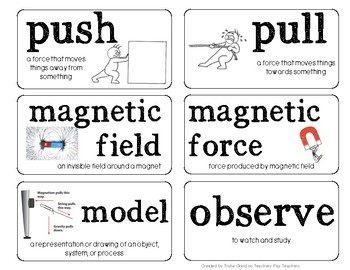 Science Word Wall: FOSS Motion and Matter Kit
