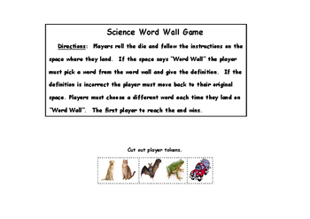 Science Word Wall Game