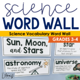 Science Vocabulary Word Wall {Grades 3-4}
