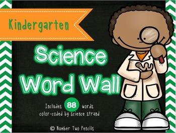 Science Word Wall: Kindergarten