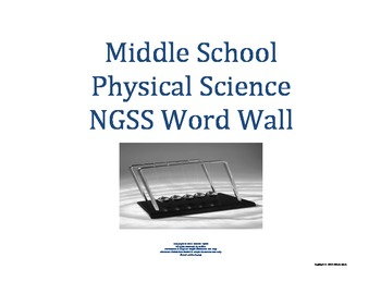 Science Word Wall MS Middle School PHYSICAL Vocabulary NGS