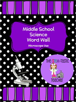 Science Word Wall - Microscope Use