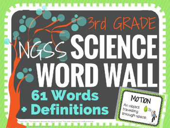 Science Word Wall (NGSS) 3rd Grade