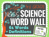Science Word Wall (NGSS) 3rd Grade - Vocabulary Cards