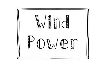 Science Word Wall - Renewable Energy