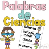 Science Word Wall Spanish - Pared de Palabras de Ciencias