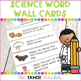 Science Word Wall Vocabulary Cards