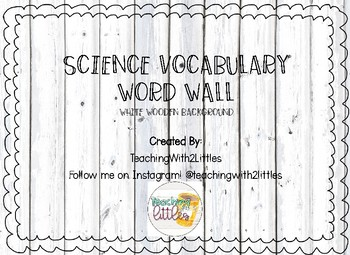 Science Word Wall White Wood